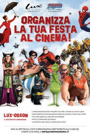Organizza La Tua Festa Con Noi Cinema Roma